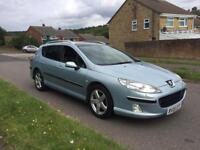 PEUGEOT 407 2.0 HDI EXECUTIVE AUTO ESTATE BLUE HPI CLEAR PX WELCOME