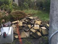 Free paving slabs must collect garden gardening gardener pave flags freebies