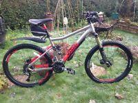 "Voodoo canzo full suspension mountain bike,18"" frame,26"" frame,magnum plus lock £50"