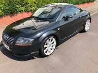 Audi TT QUATTRO 1.8 Petrol 225 BHP Black Coupe Leather interior 12 Months MOT £1495