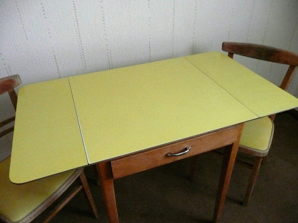 Retro Kitchen Tables For Yellow Formica Top Retro Kitchen Table And 2 Chairs In Arbroath