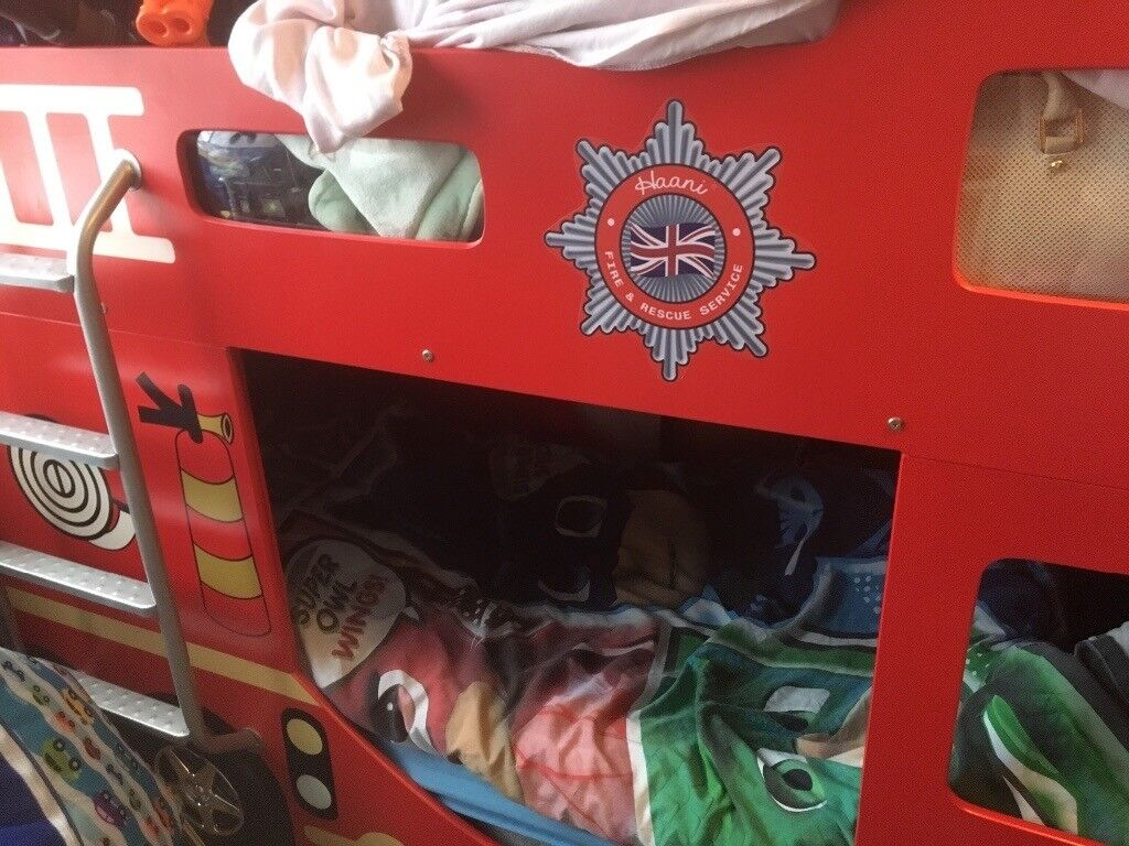 Full Size Single Fire Engine Bunk Bed In East Dulwich London