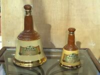 2 Wade pottery Bells Whisky bells. Collectables. (empty).