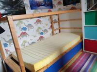 Ikea kura reversible single/ bunk bed