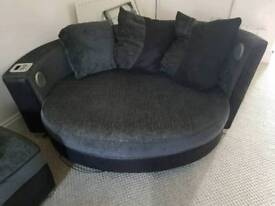 2 seater luxury sofa bed & audio chair