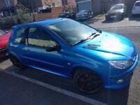 Peugeot 206 180 04 reg blue