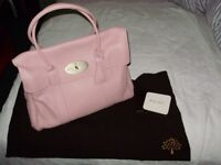 Genuine Mulberry Handbag, Light Pink Sumptuous Leather Bayswater Design