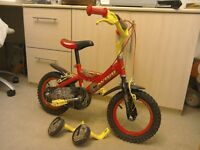 "Avigo 12"" Wheel Dinotech Bike With Removable Stabilisers"