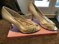 Wedding ivory high heel shoes