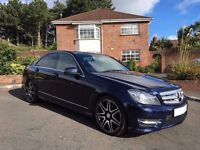 2012 MERCEDES C220 AMG SPORT + CDI BLUE ** AGNEW MERCEDES SERVICE HISTORY ** ALL CARDS ACCEPTED