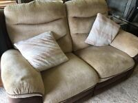 Super comfy double recliner sofa £50 pick up only