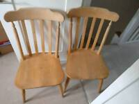 4 wooden farmhouse chairs