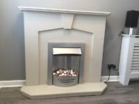 Electric Fire with Fireplace Surround