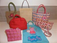 16 Girls pretty handbags bags, Torba,MNG,Accessorize,Cath KIdston,Butterflies,Polka,Fruits & more