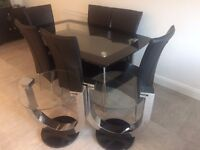 6 Seater Dining Table and two matching side table