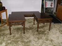 """ Wood Coffee Table and Two End Tables"