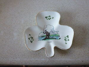 CLOVER SHAPED DISH BY CARRIGALINE POTTERY CORK IRELAND