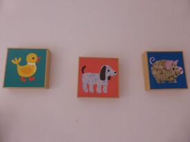 Lovely cute wooden framed animal pictures