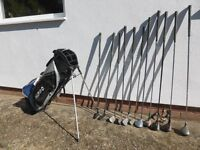 Ideal golf starter set for a begginner complete with bag and trolley