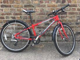 """Child's bike, Islabike Beinn 24, red, 5 speed, 20"""" wheels good condition"""