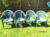4 usedgarden chairs