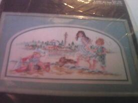 New counted cross stitch kit by Janlynn-called A Day At The Beach.