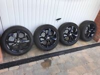 """Corsa Sri 16"""" Black alloys with very continental tyres"""