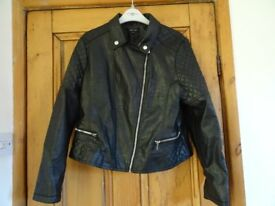 NEW LOOK Ladies Biker style leather look jacket