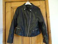 NEW LOOK Ladies Biker style leather look jacket