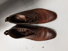 Aldo Brown Leather Ankle Lace Up Casual Boots Size EU45 US11 UK12