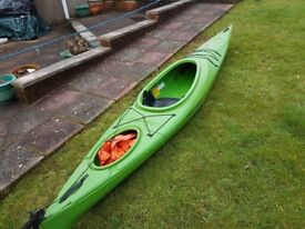 POINT 65 N Sit In Kayak Single Canoe Sea River Rudder Version