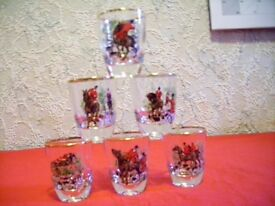 6 Shot Glasses with Hunt Theme