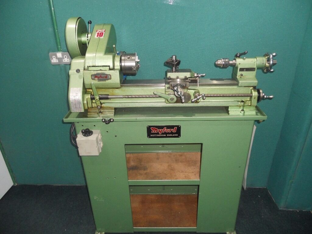 Myford Speed 10 Long Bed Lathe Cabinet New 240v Motor & Switch ...