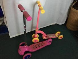 2 Children's Scooters