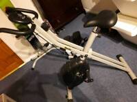 Exercise bike and stepper with resist bands