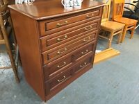 WOOD EFFECT CHEST OF FIVE DRAWERS