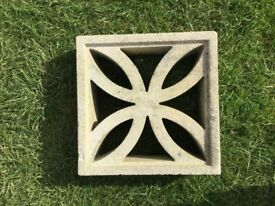 Decorative concrete blocks. 130 all good condition