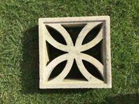 Decorative concrete blocks. 130 all good condition