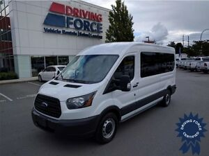 2015 Ford Transit Wagon XL 15 Passenger w/Rear A/C, 42,838 KMs