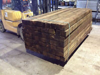 OFFERS ?? 19 FENCE POSTs 8ft or 2.4m long 4x4 inches or 100x100mm @ £8.50 each