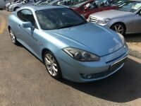2007/07 HYUNDAI COUPE 2.0 S III 3DR BLUE,LOW MILEAGE,SLIDING GLASS SUNROOF, FULL LEATHER INTERIOR,