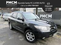 HYUNDAI SANTA FE 2007 2.2 CDX CRTD AUTO - 4x4 - LONG MOT - 7 SEATER - LEATHER - jeep xtrail rav 4