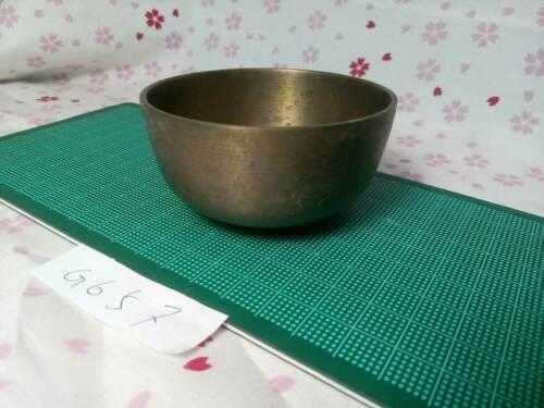 "2.933"" Japanese Vintage Buddhist Bell G657 Long and Short Wavelengths"