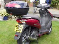 HONDA DYLAN SES 125cc motor scooter very low mileage FULL MOT new batteryT