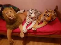 3 very large stuffed animals