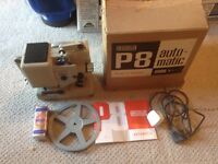 Vintage Projector Eumig p8 automatic. Cine Film projector with original box and accessories.