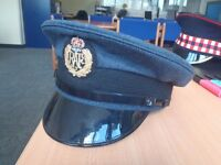 ROYAL AIR FORCE PEAKED CAP - 54CM - GENUINE ISSUE - RAF - GOOD CONDITION- USED - BRITISH ARMY