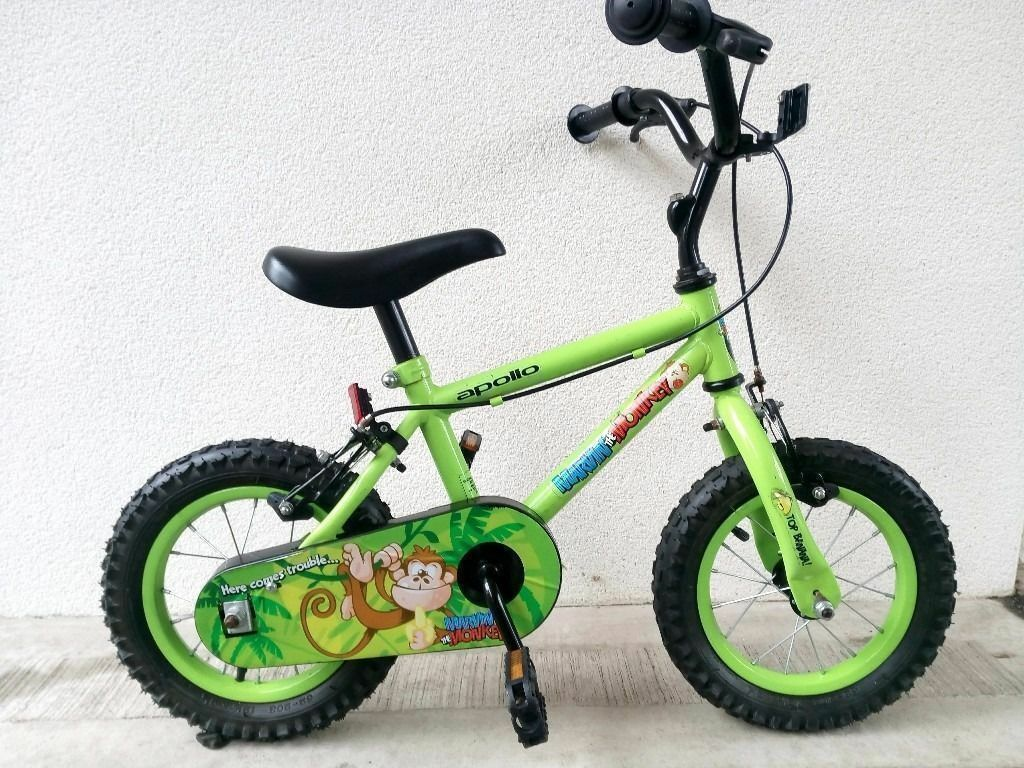 "(2540) 12"" APOLLO Boys Girls Kids Childs Bike Bicycle+ STABILISERS Age: 3-4 Height: 90-105 cm"