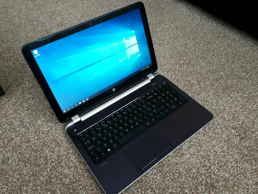 hp pavilion sleekbook laptop portable 15 inch windows 10 office 2007 very good in leicester. Black Bedroom Furniture Sets. Home Design Ideas
