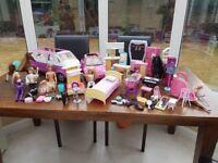 Barbie Bundle VW campervan VW car Barbie horses dolls furniture